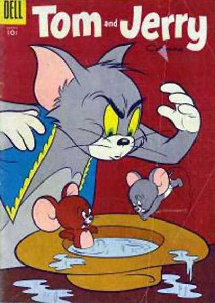 Tom & Jerry Comics 133 - Dell - Hat - Cat - Mouse - Water