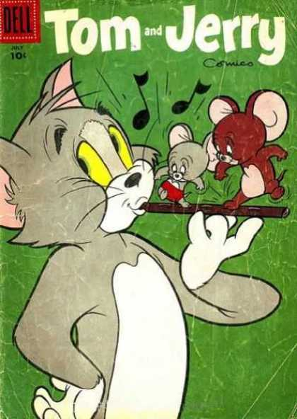Tom & Jerry Comics 144 - Dell - Cat - Mouse - Fiddle - Red Shorts