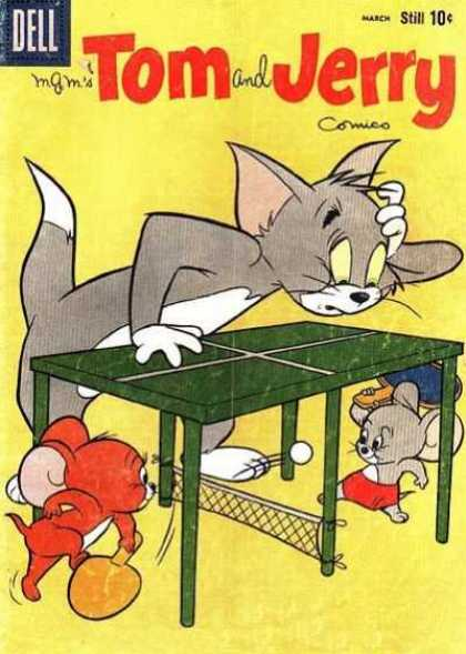 Tom & Jerry Comics 176 - Tom - Jerry - Dell - Table Tennis - Yellow