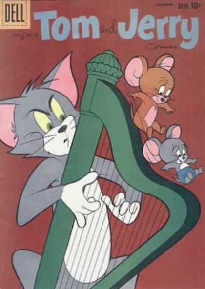 Tom & Jerry Comics 185 - Dell - Harp - Mouse - Cat - Mice
