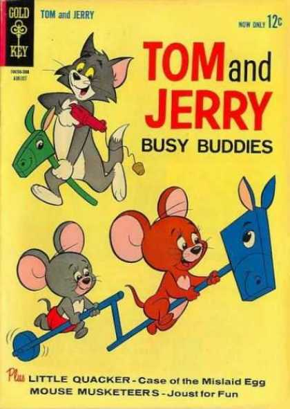 Tom & Jerry Comics 216 - Hobby Horse - Busy Buddies - Case Of The Mislaid Egg - Joust For Fun - Musketeers