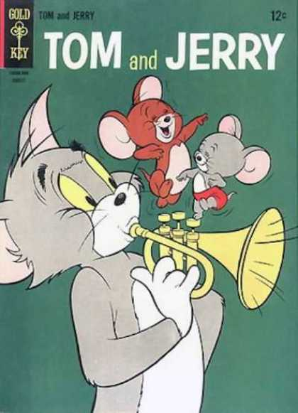 Tom & Jerry Comics 225 - Gold Key - Mice - Cat - Music Instrument - Dancing
