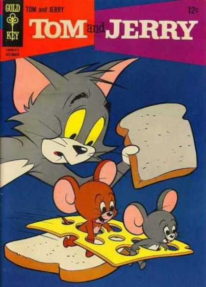 Tom & Jerry Comics 233 - Slices Of Bread - Swiss Cheese Being Stolen - Gold Key - Food - Mice Have Cheese