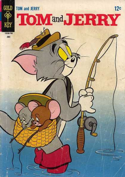 Tom & Jerry Comics 236 - Gold Key - Mice - Cat - Fishing Rods - Water