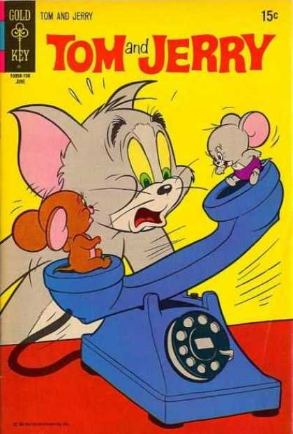 Tom & Jerry Comics 257 - Gold Key - Cat - Mice - Telephone - 15 Cents
