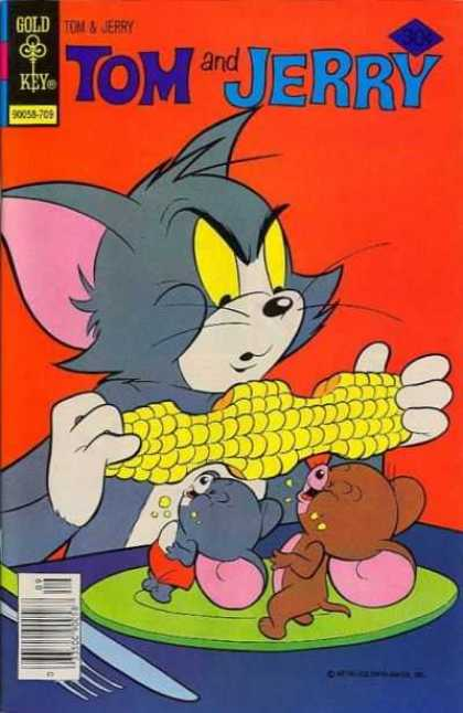 Tom & Jerry Comics 298 - Cornflower - Green Plate - Sharp Knife - Blue Table - Little Mice