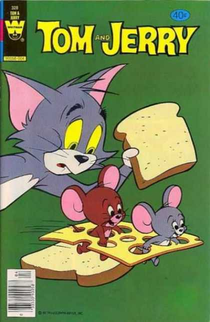 Tom & Jerry Comics 328 - Mice - Cat - Bread - Running - 40 C