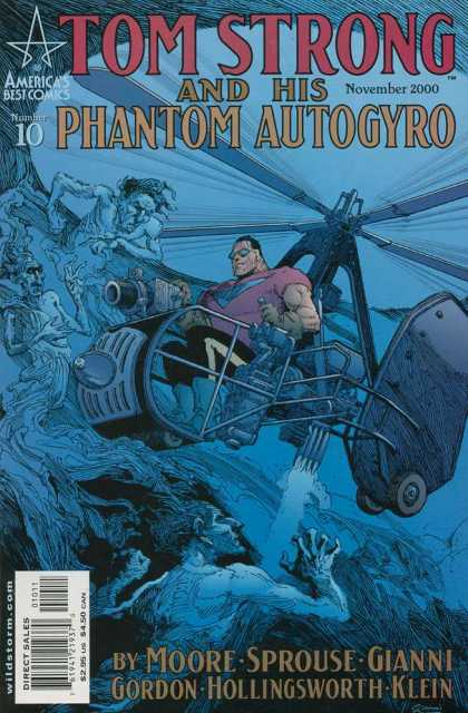 Tom Strong 10 - The Ghosts - Helicopter Battle - Demons From Below - Battle Front - The Last Frontier - Gary Gianni