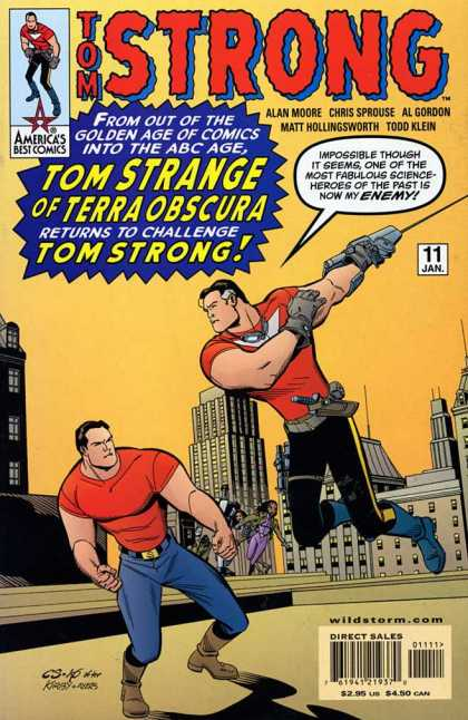 Tom Strong 11 - No 11 - January - Americas Best Comics - Tom Strange - Rooftop - Chris Sprouse