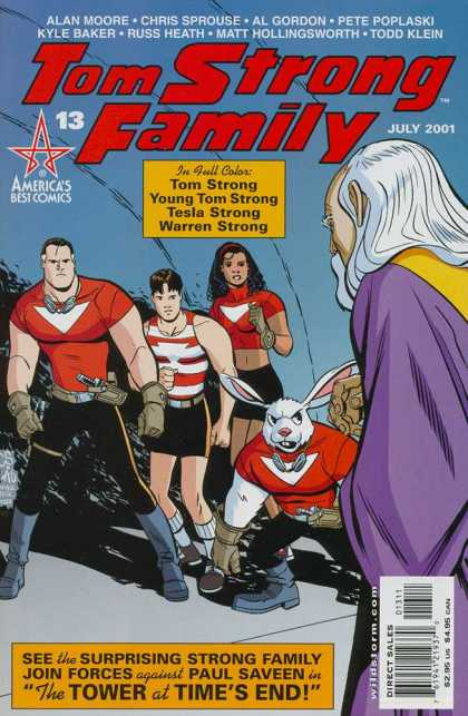 Tom Strong 13 - Americas Best Comics - Tom Strong - Young Tom Strong - Tesla Strong - Warren Strong - Chris Sprouse