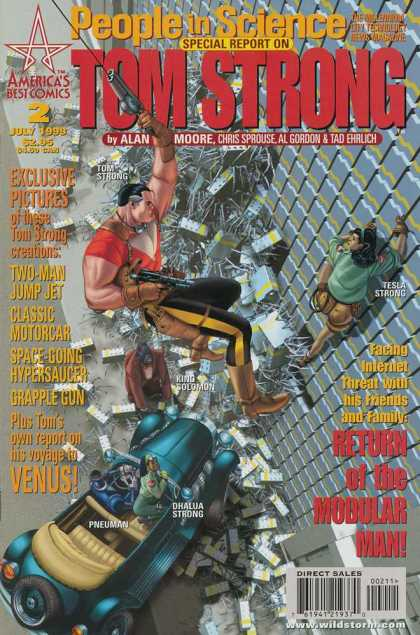 Tom Strong 2 - People In Science - Weapon - Gun - Americas Best Comics - Alan Moore - Chris Sprouse