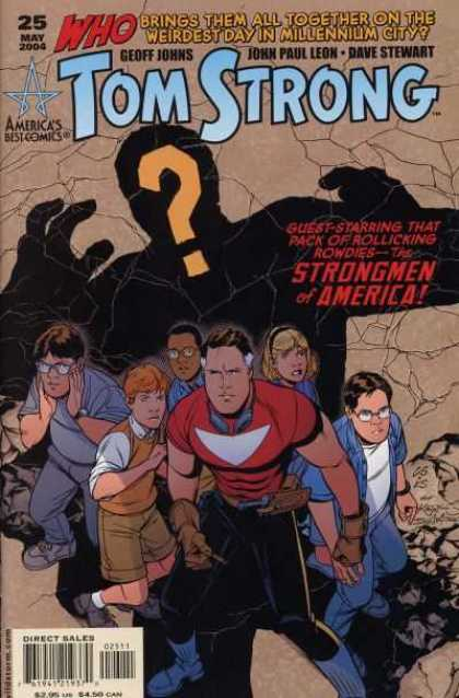 Tom Strong 25 - Strongmen Of America - Question Mark - Geoff Johns - Americas Best Comics - John Paul Leon - Chris Sprouse