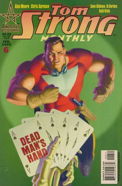 Tom Strong 6 - Tom Strong - Alan Moor - Chris Sprouse - A Dead Mans Hand - Feb 2000 - Dave Gibbons