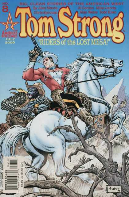 Tom Strong 8 - Big Clean Stories Of The American West - Americas Best Comics - July 2000 - Riders Of The Lost Mesa - Direct Sales