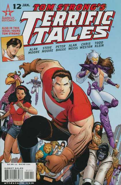 Tom Strong's Terrific Tales 12 - Gorrilla - Leopard Man - Aquatic People - Young Woman - Americas Best Comics - Arthur Adams