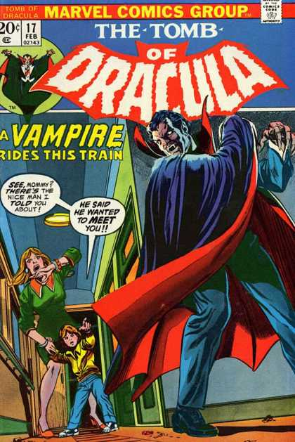 Tomb of Dracula 17 - The Tomb Of Dracula - A Vampire Rides This Train - Seemommy There1s The Nice Man I Told You About - He Said He Wanted To Meet You - Marvel Comics Group