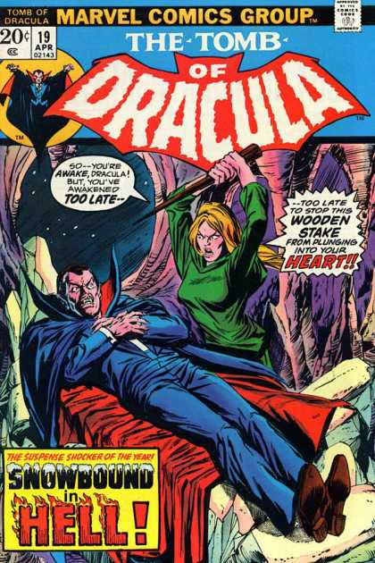 Tomb of Dracula 19 - Marvel Comics Group - April - 19 - Stake - Snowbound In Hell