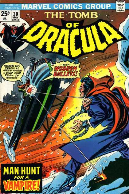 Tomb of Dracula 20 - Helicopter - Wooden Bullets - Snow - Chains - Man Hunt For A Vampire