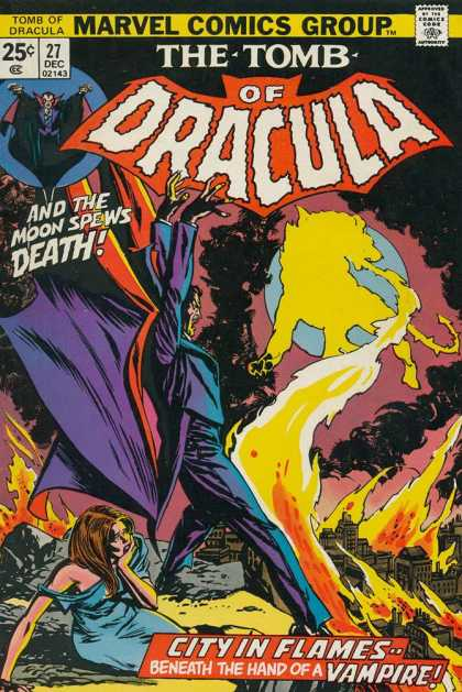 Tomb of Dracula 27 - City Of Flames - Vampire - The Moon Spews Death - 27 Dec 02143 - Beneath The Hand