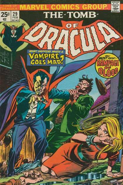 Tomb of Dracula 29 - Vampire Goes Mad - Rampage Of Blood - 25 C - What Happens - You Must Read