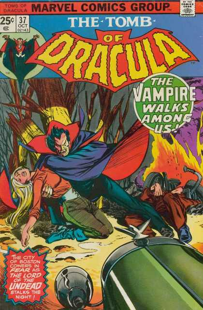Tomb of Dracula 37 - Marvel Comics Group - The Tomb Of Dracula - The Vampire Walks Aong Us - The Lord Of The Undead Stalks The Night - 2143