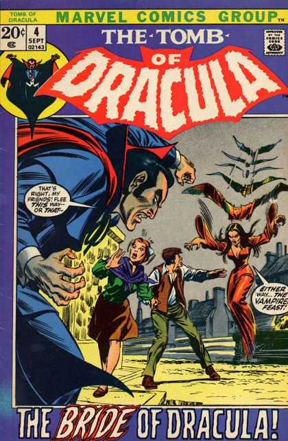 Tomb of Dracula 4 - Marvel Comics Group - 4 Sept - Approved By The Comics Code Authority - The Bride Of Dragulla - The Vampire Feast - Gene Colan, Neal Adams