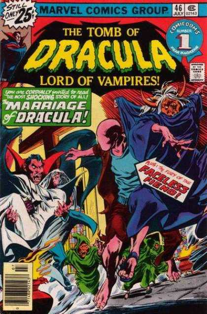 Tomb of Dracula 46 - Marriage - Faceless Fiend - Lord Of Vampires - Cross - Cape