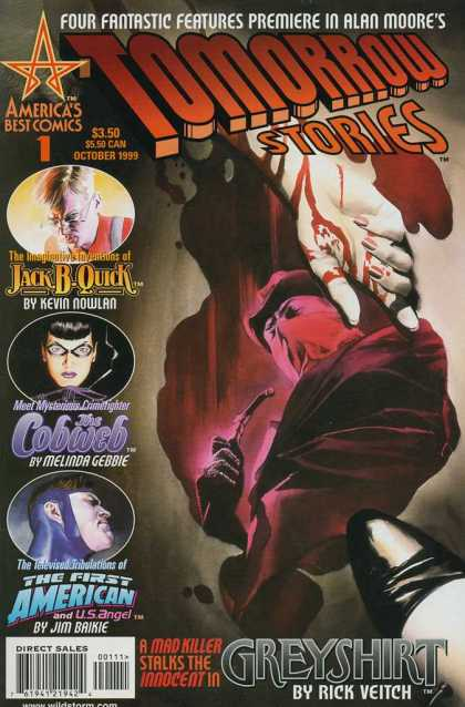 Tomorrow Stories 1 - Alan Moore - Greyshirt - Rick Veitch - Blood - Four Fantastic Features - Alex Ross