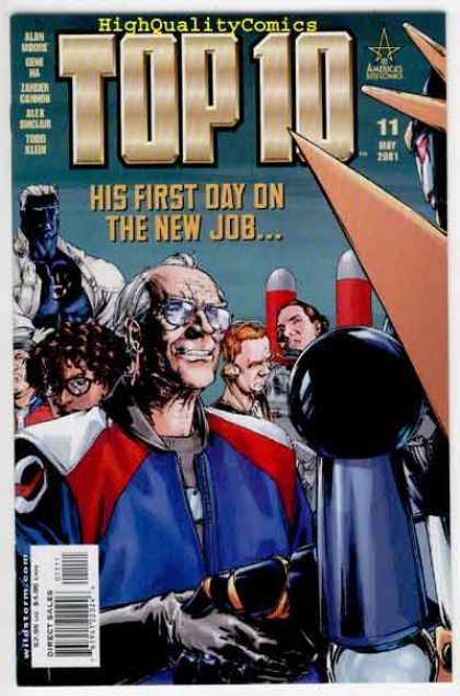 Top 10 11 - First Day On The Job - Older Gentleman - Issue Number 11 - May 2001 - High Quality Comics - Gene Ha