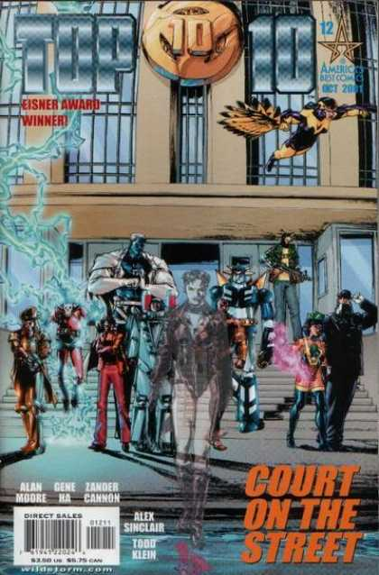 Top 10 12 - Best Comics - Eisner Award Winner - Court On The Street - Alex Sinclair - Alan Moore - Gene Ha