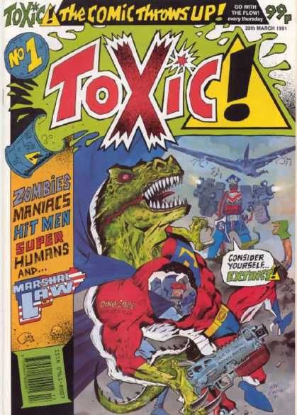 Toxic 1 - Dinosaur - Gun - Cape - Hole Through Body - Robot