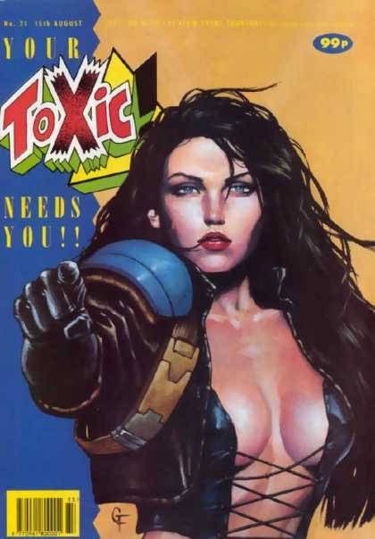 Toxic 21 - Shoulder Pads - Gloves - Bustie - Black Hair