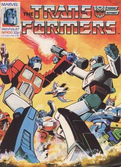 Transformers (UK) 100 - Marvel Comics - Modern Age - Robots - Made Into Movies - Autobots