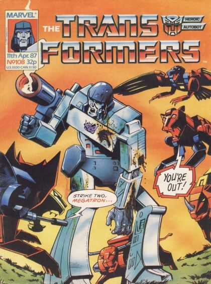 Transformers (UK) 108 - Marvel Comics - Issue 108 - Heroic Autobot - Optimus Prime - Megatron