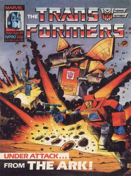 Transformers (UK) 110 - Marvel - Explosion - Fire - Gun - Weapon