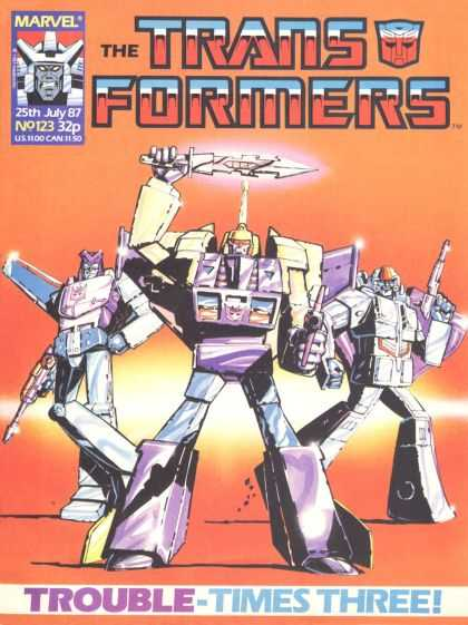 Transformers (UK) 123 - Transformers - Marvel - Trouble - Times - Thrill