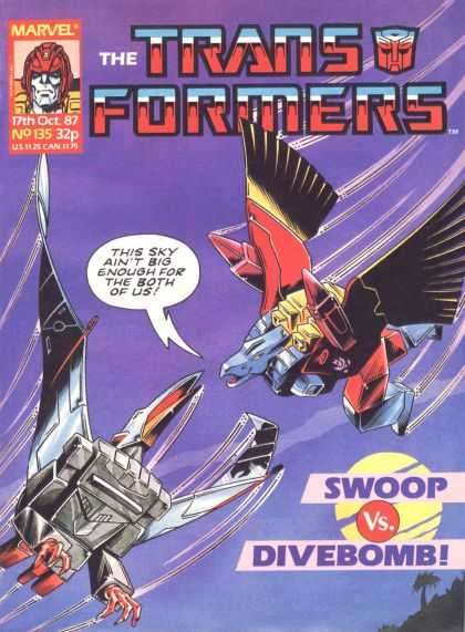 Transformers (UK) 135 - No 135 - Marvel - Sky - Swoop - Divebomb