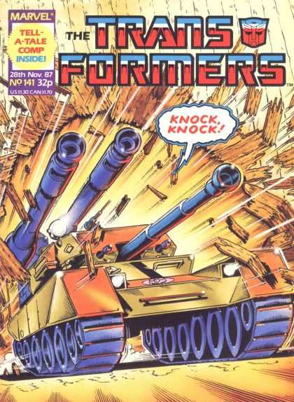 Transformers (UK) 141 - 28th November 1987 - No 141 - Tank - Knock Knock - Marvel