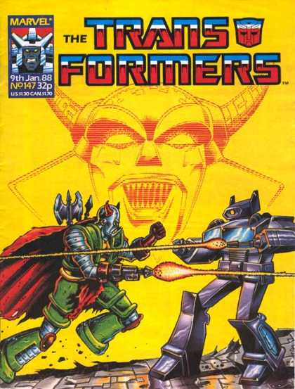 Transformers (UK) 147 - Robots - 9th Jan 88 - Laser - Horn - Weapons