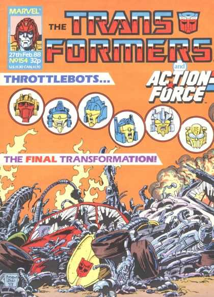 Transformers (UK) 154 - Marvel - Battle - Robots - The Final Transformation - Action Force