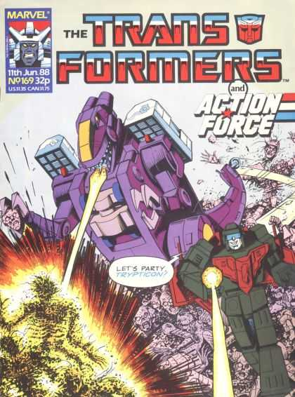 Transformers (UK) 169 - Action Force - Party - Fire - Marvel - Transformers