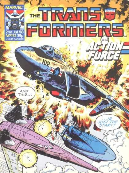 Transformers (UK) 172 - Marvel - Marvel Comics - Cyclons - Action Force - Transformers