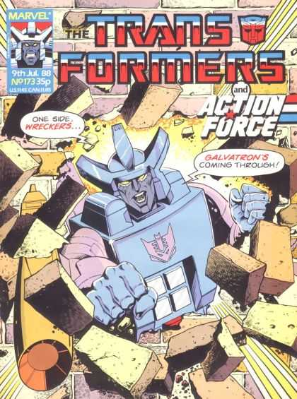 Transformers (UK) 173 - Marvel - Wreckers - Galvatron - Action Force - Break Through Brick Wall