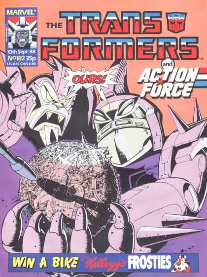 Transformers (UK) 182 - Robots - Action Force - Cybertron - Unicron - Frosties