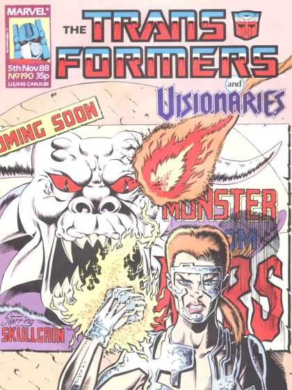 Transformers (UK) 190 - Marvel - Science Fiction - Visionaries - Cyborg - Uk
