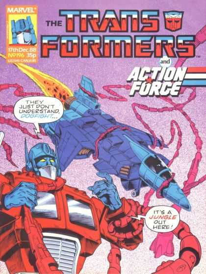 Transformers (UK) 196 - Marvel - Action Force - Speech Bubble - December - Aircraft