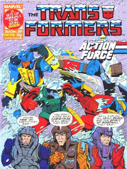 Transformers (UK) 198 - Marvbel Comics - 31st Dec 1988 Issue - Issue No 198 - Action Force - Transformers
