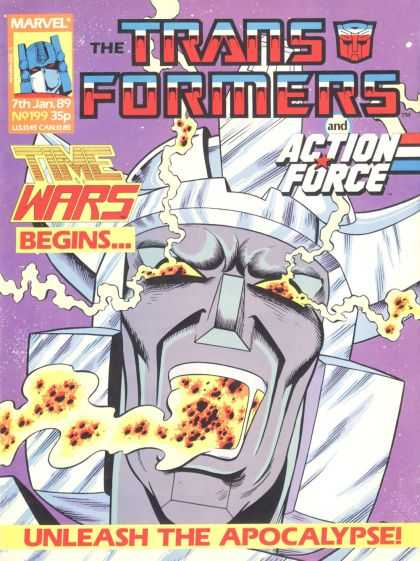 Transformers (UK) 199 - Marvel - Time Wars - Action Force - Apocalypse - Lava
