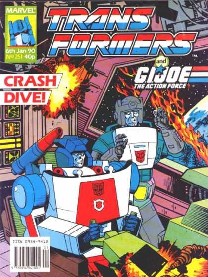 Transformers (UK) 251 - Crash Dive - Gijoe - Action Force - Robots - Fire