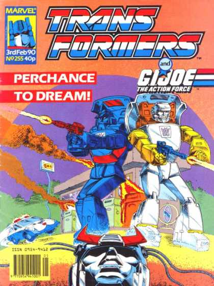 Transformers (UK) 255 - Perchance To Dream - Marvel - Gi Joe The Action Force - Gas Station - Explosion